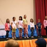 Призеры конкурса детского рисунка принимают поздравления от оргкомитета