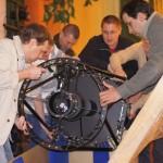 Погрузка 500-мм телескопа системы Ричи-Кретьен