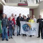 Д. Пич в окружении членов Московского астрономического клуба (МАК)